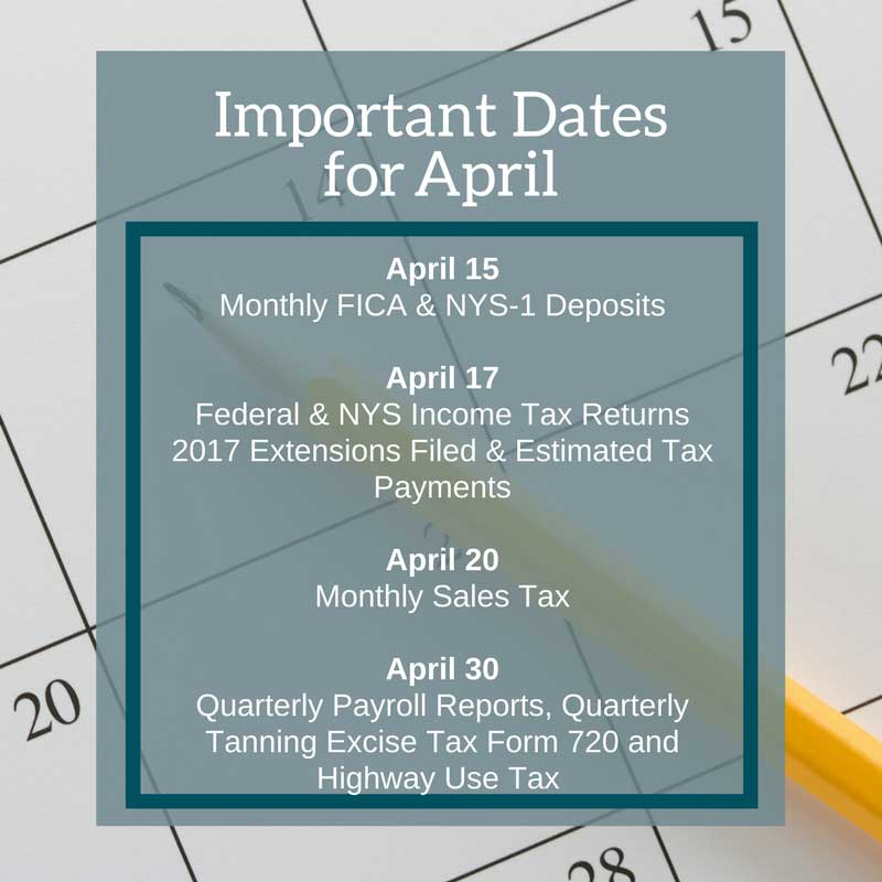 April Important Dates