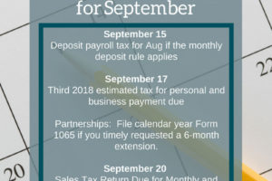 September Accounting Dates