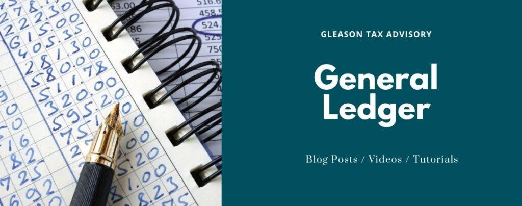 Gleason Tax Advisory General Ledger